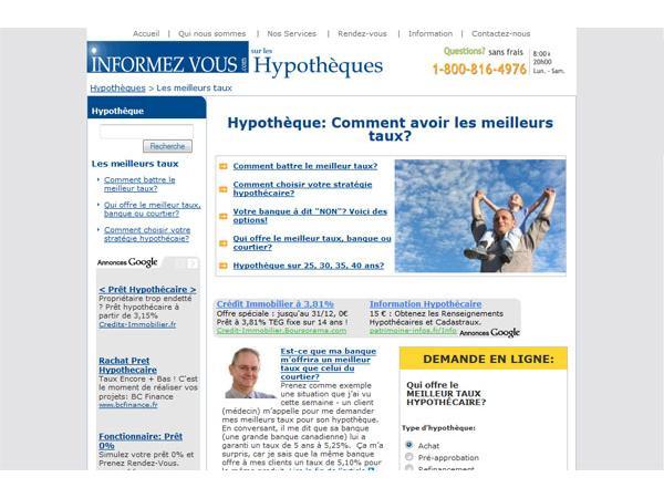 Informezvous.com | Hypotheque