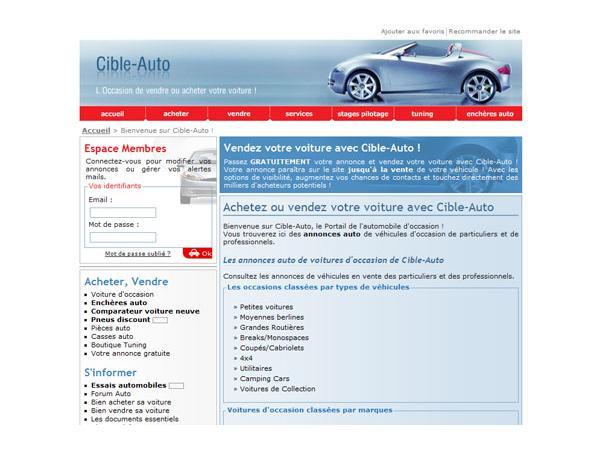 Cible-Auto : annonces occasions de particuliers