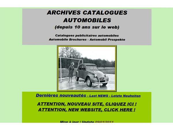 Archives de Catalogues automobiles