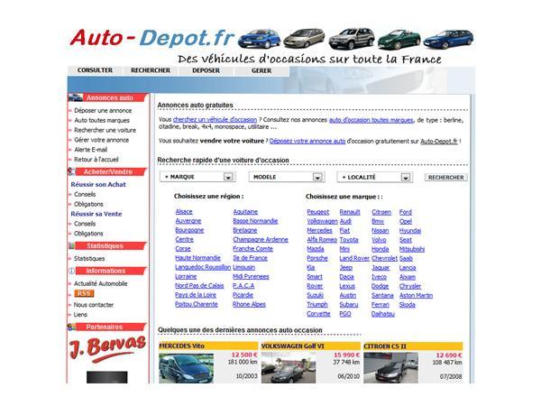 Auto Dépôt - Les annonces automobiles sur le web